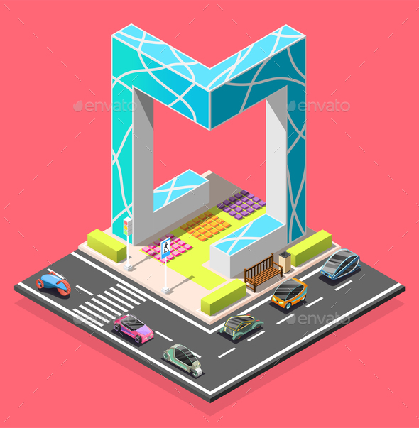 City Constructor Isometric Element - Buildings Objects