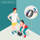 Fitness Bracelet Isometric Background