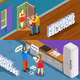 Neighbors Relations Isometric Banners