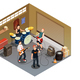 Garage Band Isometric Composition