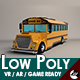 Low-Poly Cartoon School Bus - 3DOcean Item for Sale