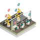 Smart Industry Manufacturing Isometric Composition