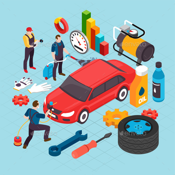 Auto Service Concept - Services Commercial / Shopping