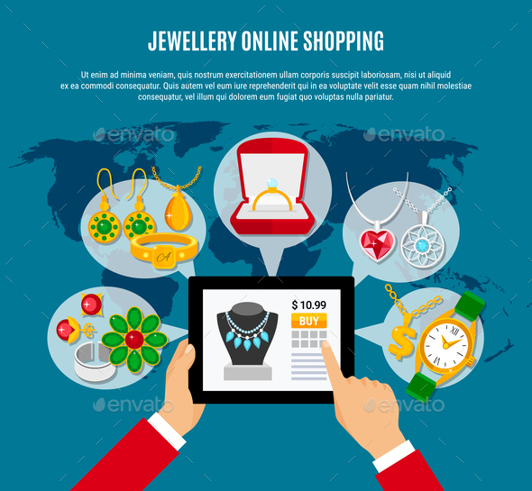 Jewelry Online Shopping Composition - Web Technology