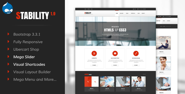 Image of Stability - Responsive Drupal 7 Ubercart Theme