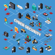 Cyber Security Isometric Flowchart - GraphicRiver Item for Sale