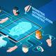 Biometric Authentication Methods Isometric Composition