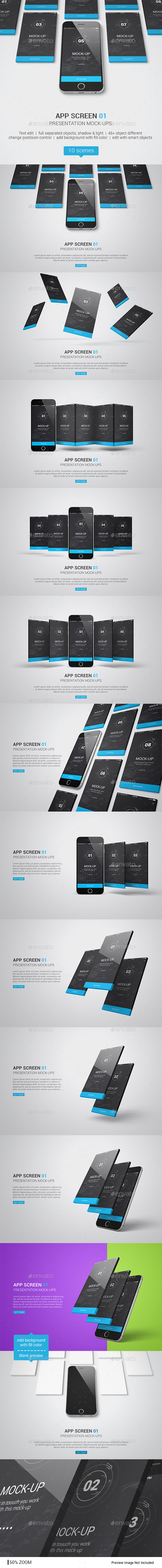 Iphone / UI / App Screen Mockup - Product Mock-Ups Graphics
