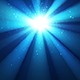 Night Shining Sky, Divine Radiance, Sparkles, Blue Background with Rays of Light - VideoHive Item for Sale