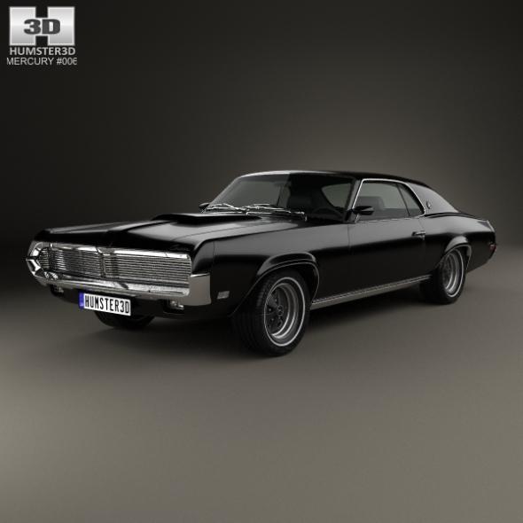 Mercury Cougar XR-7 1969 - 3DOcean Item for Sale
