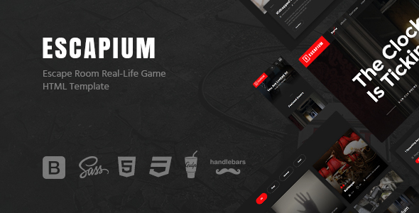 Image of Escapium - Escape Room Game HTML Template