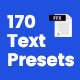 170 Text Presets - VideoHive Item for Sale