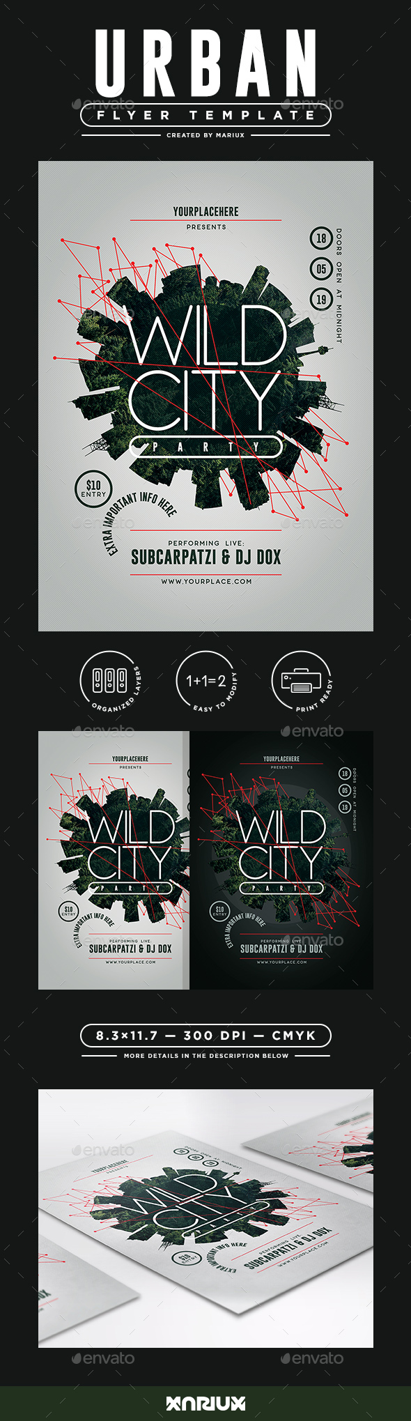 Wild City Flyer/Poster - Clubs & Parties Events