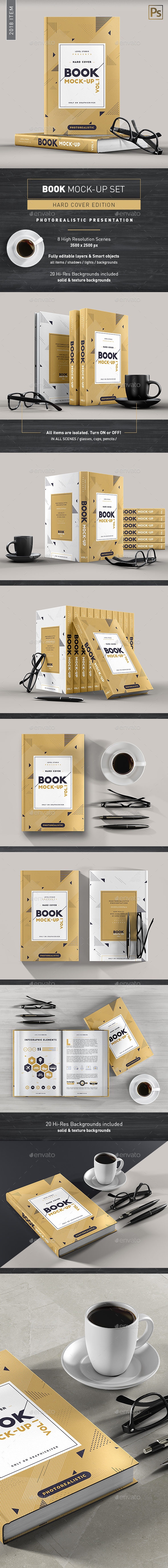 Book Mock-Up Set 1 (Hardcover) - 2018 Edition - Miscellaneous Print