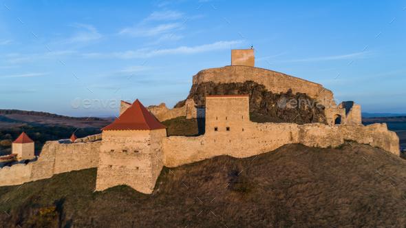 Rupea medieval fortress. Transylvania, Romania - Stock Photo - Images