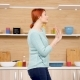 Happy and Positive Woman Dances in the Kitchen - VideoHive Item for Sale