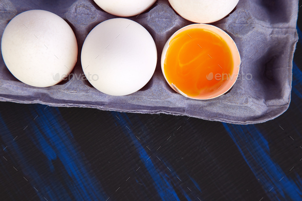 Natural organic chicken eggs - Stock Photo - Images