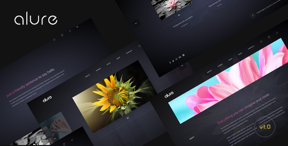 Alure - Creative Multipurpose Portfolio WordPress Theme - Portfolio Creative