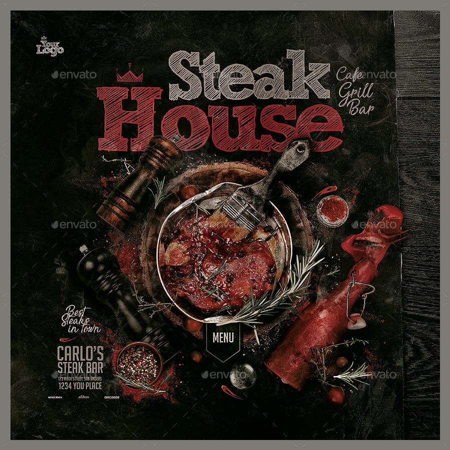 Steak House Menu Template