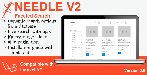 Needle V2 - Laravel Faceted Search - CodeCanyon Item for Sale