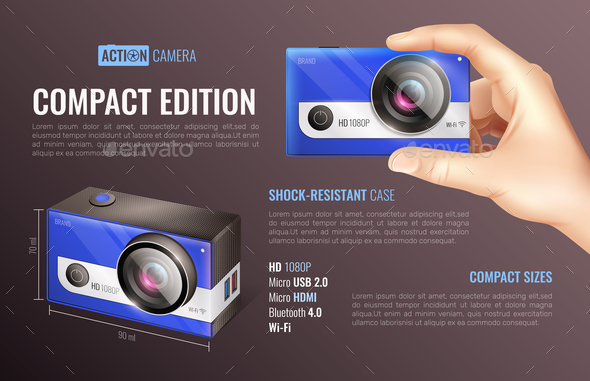 Action Camera Compact Edition Poster - Sports/Activity Conceptual