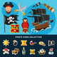 Pirate Icons Cartoon Collection