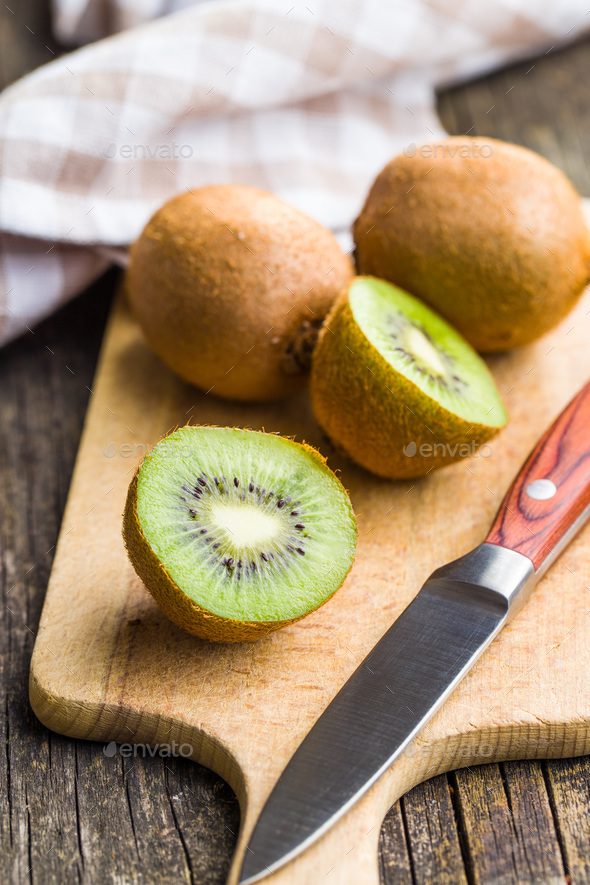 Halved kiwi fruit. - Stock Photo - Images
