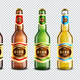 Glass Beer Bottles Transparent Background