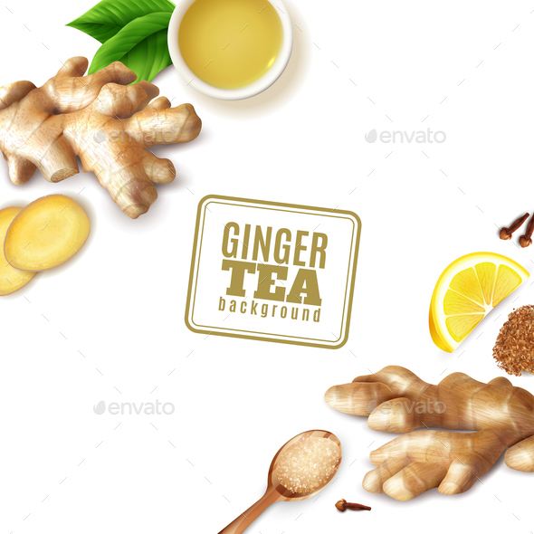 Ginger Tea Background - Food Objects
