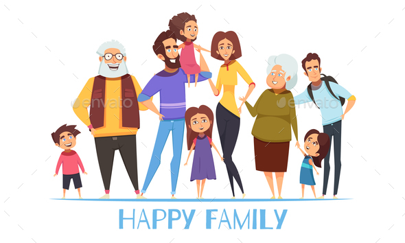 Family Illustration - People Characters