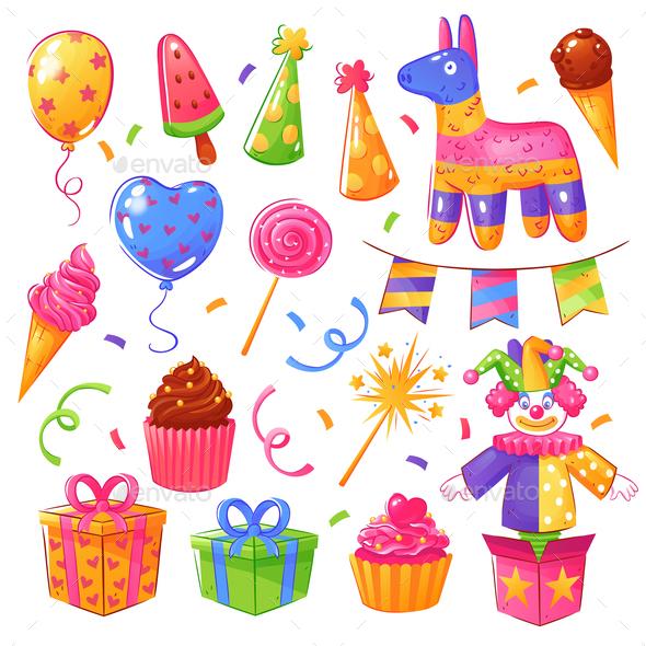 Birthday Party Celebration Set - Birthdays Seasons/Holidays