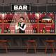 Bar Interior Realistic Composition