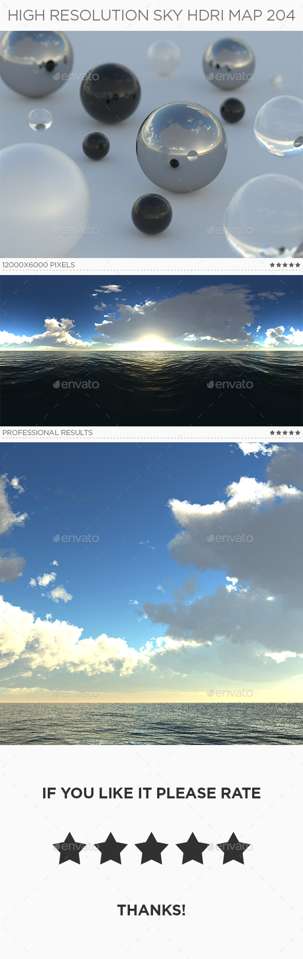 High Resolution Sky HDRi Map 204 - 3DOcean Item for Sale