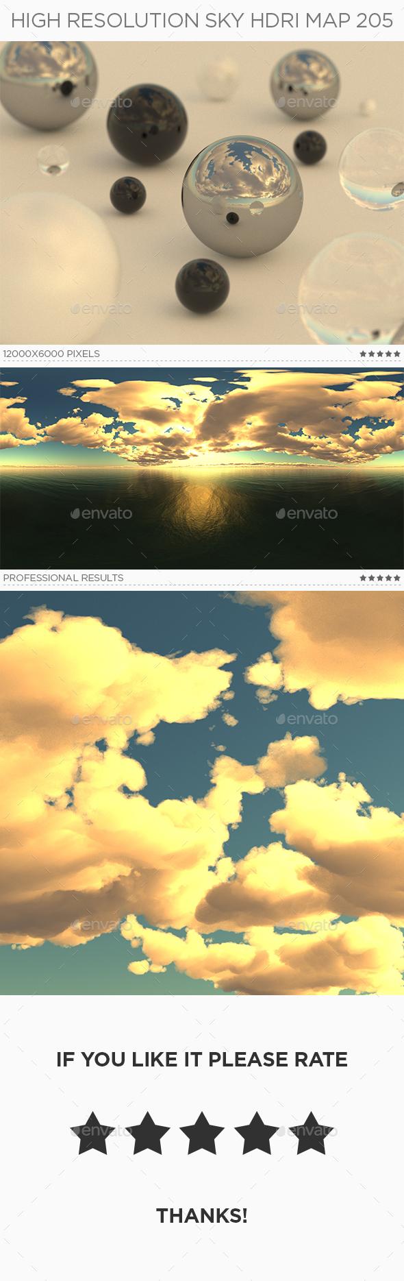 High Resolution Sky HDRi Map 205 - 3DOcean Item for Sale