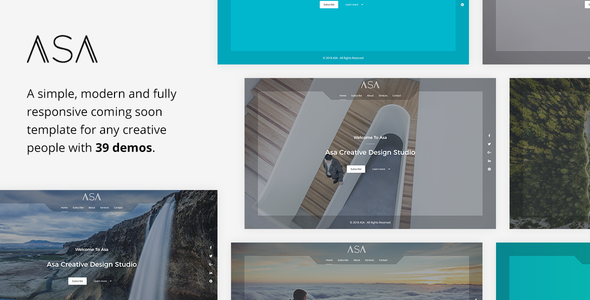 Asa - Responsive Coming Soon Template - Under Construction Specialty Pages