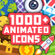 1000+ Flat Animated Icons Pack - VideoHive Item for Sale