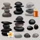 Spa Stone Vector Zen Stony Therapy for Beauty
