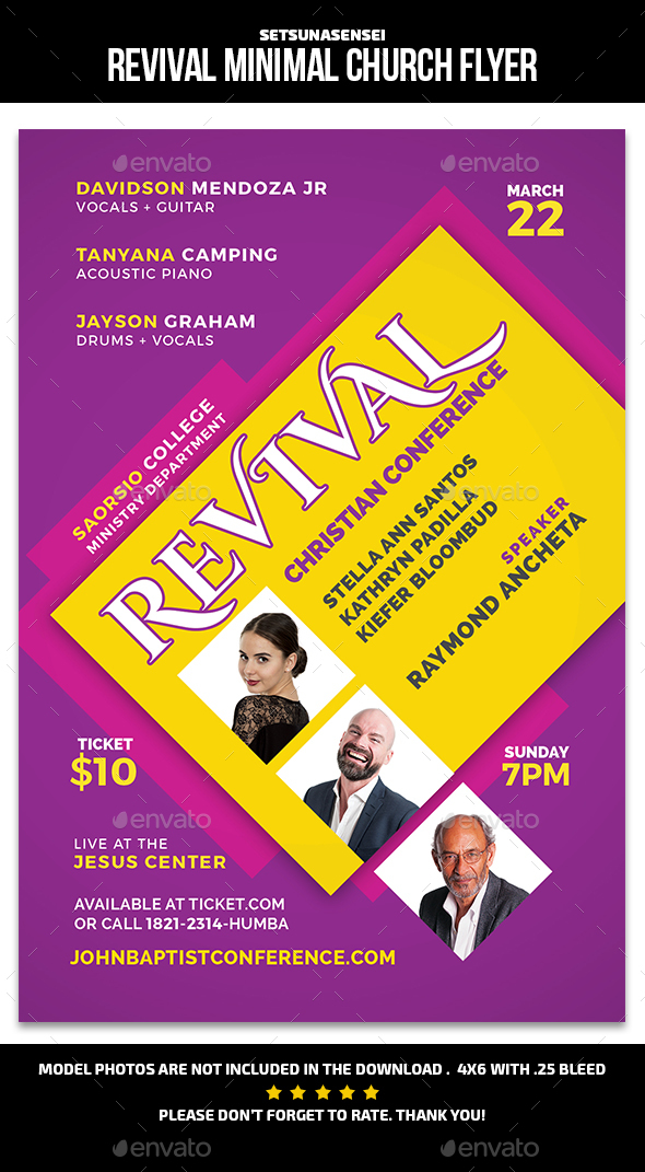 Revival Minimal Church Flyer - Church Flyers