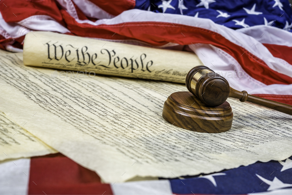 Constitution and Gavel - Stock Photo - Images