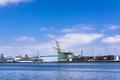 Ship loading docks in harbor - PhotoDune Item for Sale