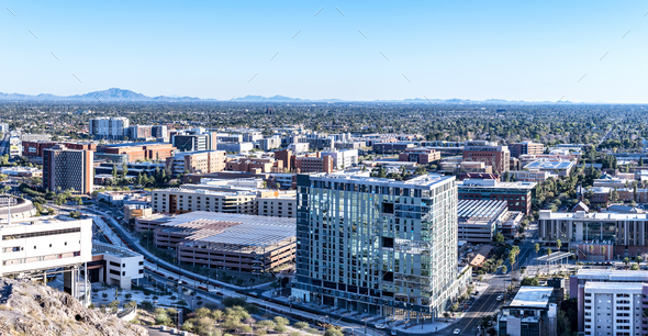 Arizona State University city overlook - Stock Photo - Images