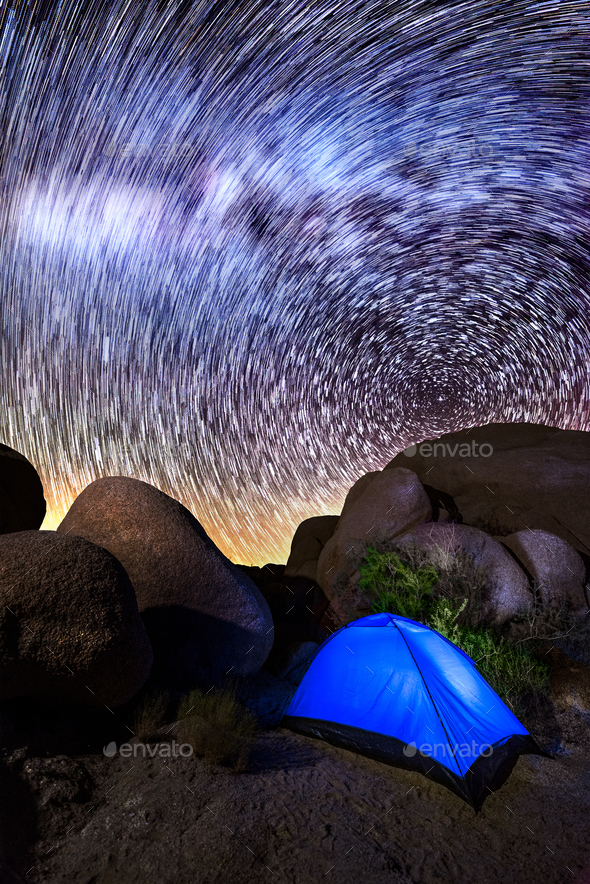 Milky Way in Joshua Tree - Stock Photo - Images