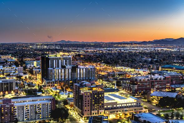 Phoenix Arizona City Overlook - Stock Photo - Images