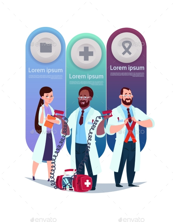 Medical Template Infographic Elements Background - Technology Conceptual