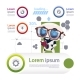 Set Of Template Infographics With Modern Robot - GraphicRiver Item for Sale
