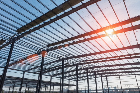 steel structure workshop - Stock Photo - Images