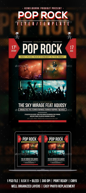 Pop Rock Flyer / Poster - Concerts Events