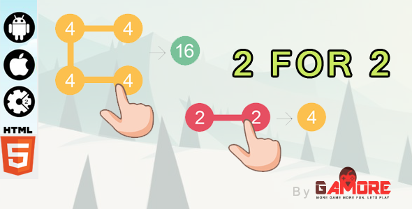 2 For 2 HTML5 Puzzle Game - Construct 2 CAPX ( Construct2 ) - CodeCanyon Item for Sale