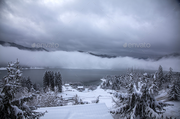 Lake at winter - Stock Photo - Images