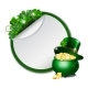 St. Patricks Day Banner with Clover Leaves - GraphicRiver Item for Sale